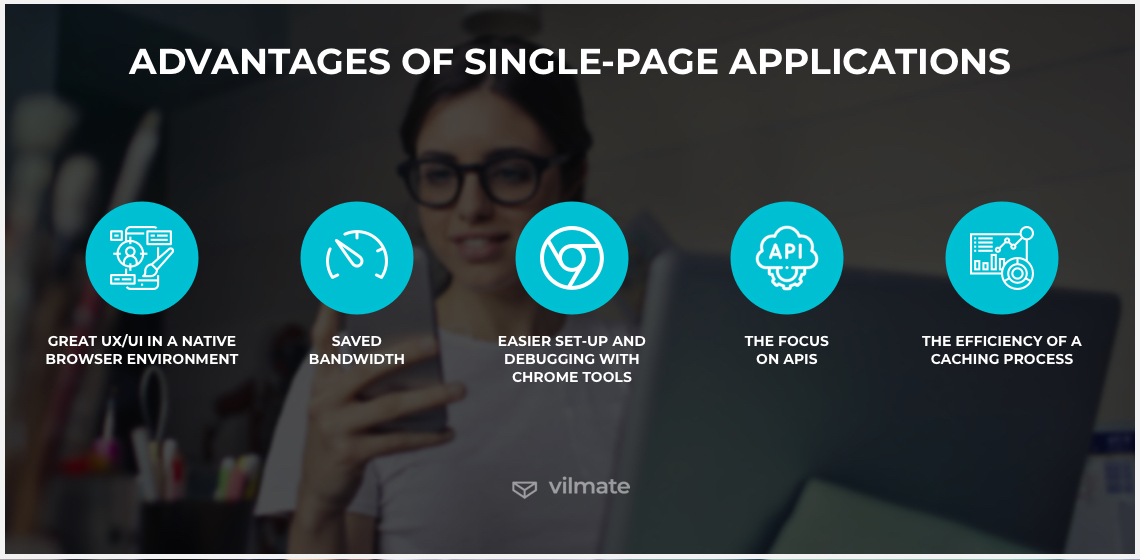 Advantages of single-page applications