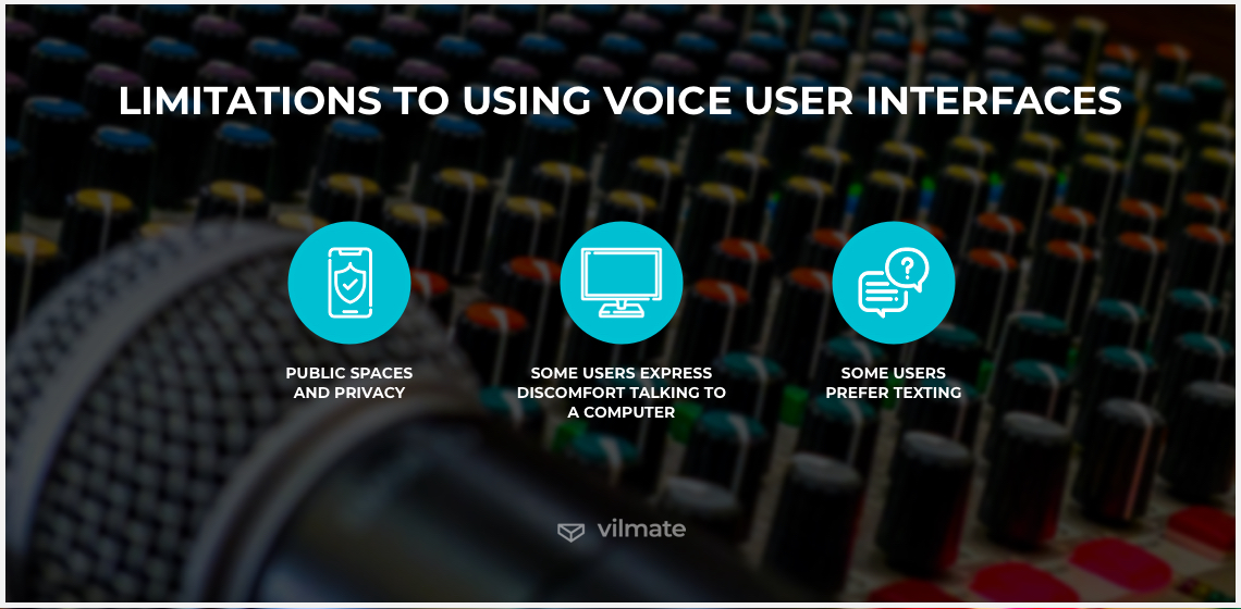 Limitations to using voice user interfaces