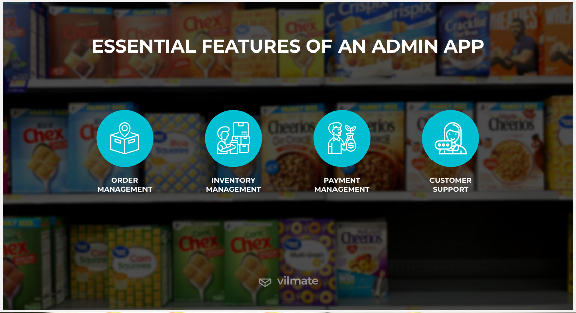 Essential features of an admin app