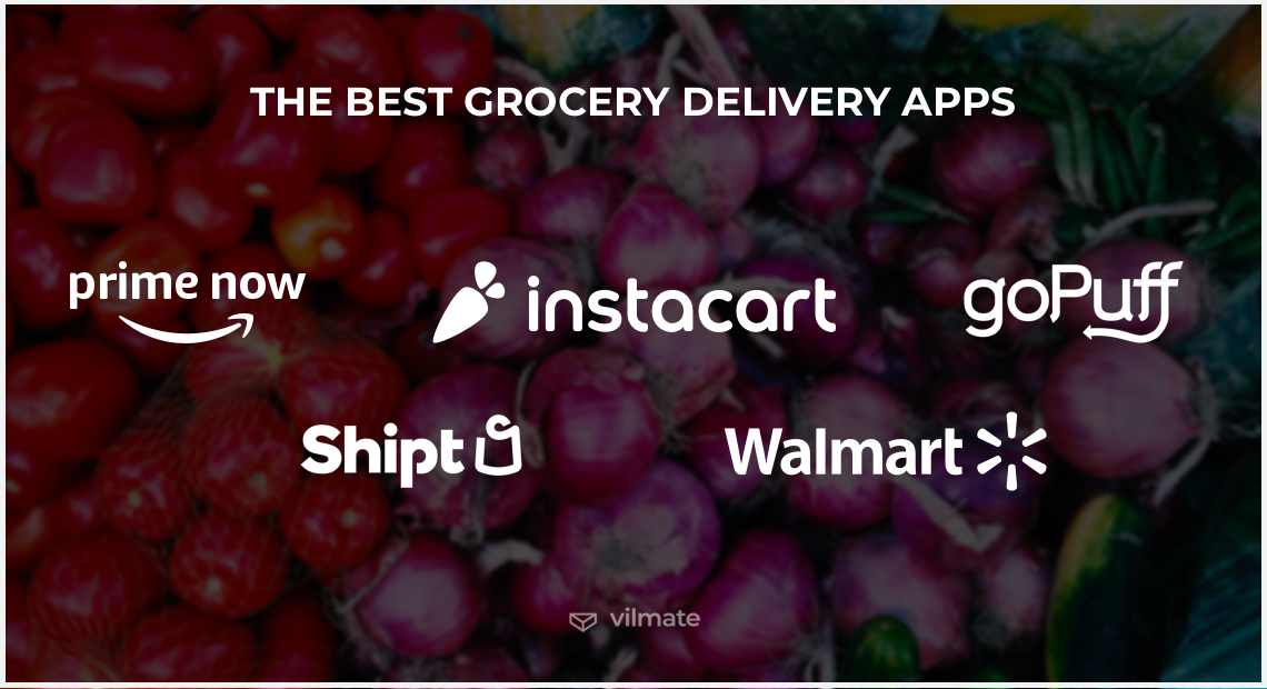 Examples of the best grocery delivery apps