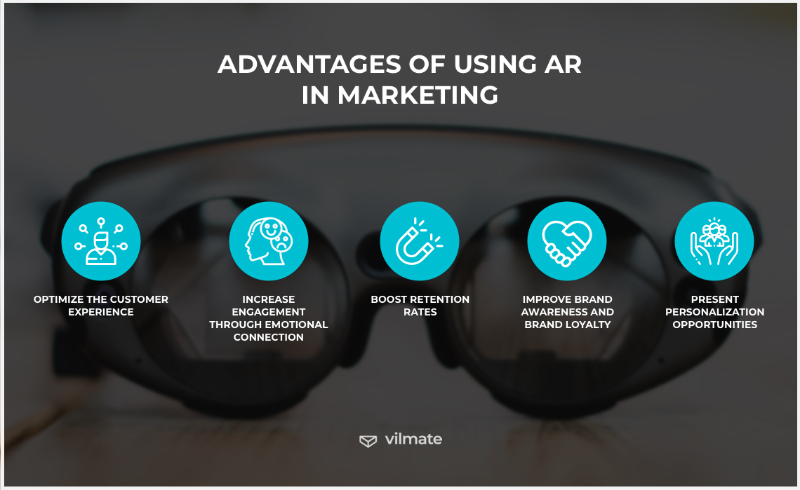 Advantages of using AR in marketing